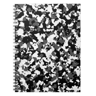 Modelo del camo del invierno cuaderno