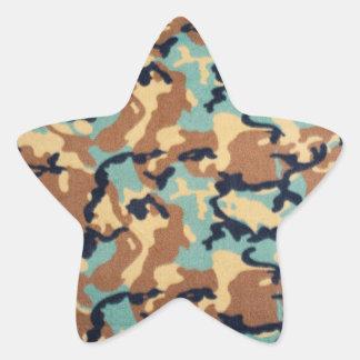 Modelo del camuflaje del ejército pegatina en forma de estrella
