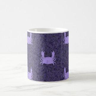 Modelo del cangrejo de la púrpura y del bígaro taza de café