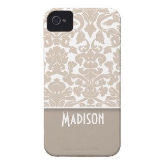 Modelo del damasco del color de la almendra; Perso Case-Mate iPhone 4 Carcasas