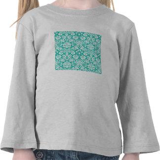 Modelo del damasco del trullo de la turquesa de la camisetas