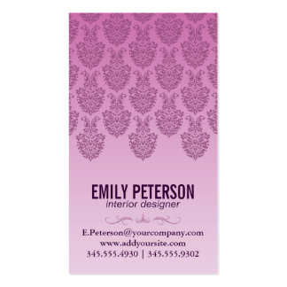 Modelo del damasco (púrpura) tarjetas de visita