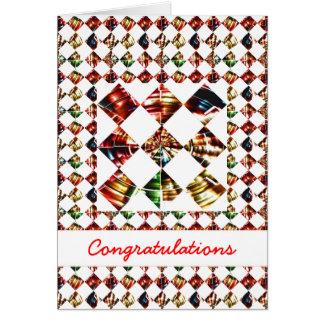 Modelo del diamante de la chispa: Texto Editable d Felicitaciones