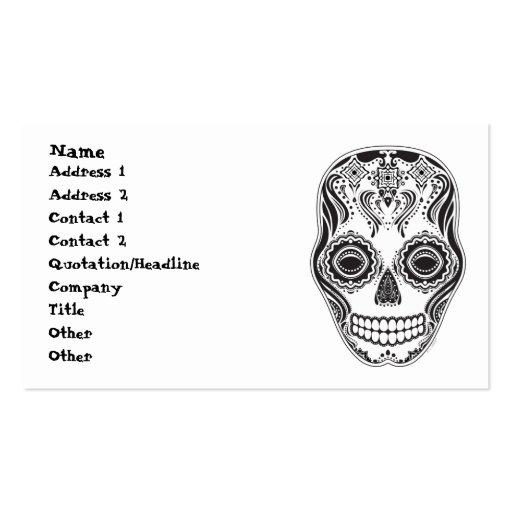 Modelo del diamante del cráneo del chica de Dia de Plantilla De Tarjeta De Negocio