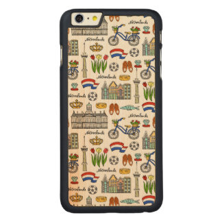 Modelo del Doodle de Netherland Funda De Arce Para iPhone 6 Plus De Carved