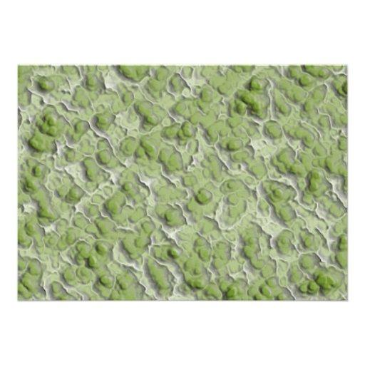 Modelo del efecto de las algas verdes invitacion personal