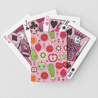 modelo del ejemplo de la cocina de la fruta baraja de cartas