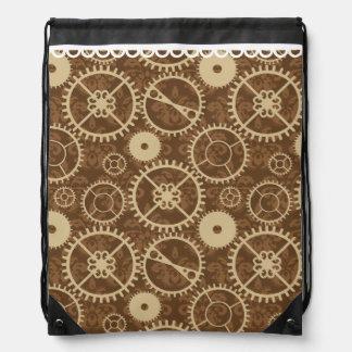 Modelo del engranaje y del damasco del reloj de mochilas
