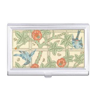 Modelo del enrejado de William Morris Caja Para Tarjetas De Visita