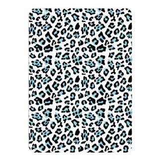 Modelo del estampado de animales del leopardo del invitación 12,7 x 17,8 cm