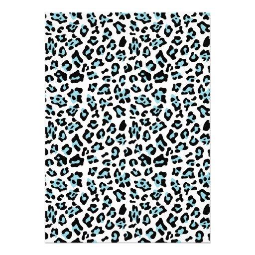 Modelo del estampado de animales del leopardo del  invitacion personal