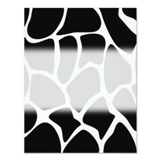 Modelo del estampado de girafa. Diseño del Invitación 10,8 X 13,9 Cm