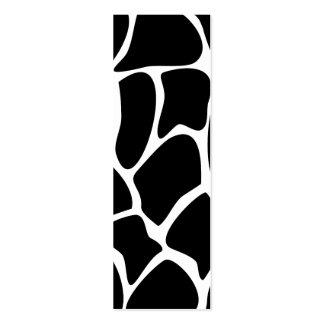 Modelo del estampado de girafa. Diseño del Tarjetas De Visita Mini