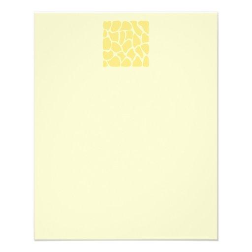 Modelo del estampado de girafa en amarillo tarjetas publicitarias