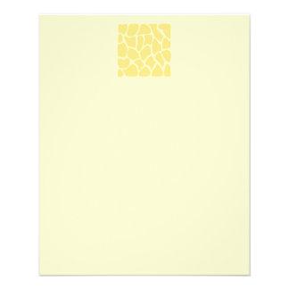 Modelo del estampado de girafa en amarillo folleto 11,4 x 14,2 cm