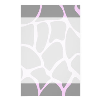 Modelo del estampado de girafa en gris tarjetas informativas