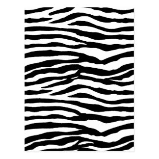 Modelo del estampado de zebra postal