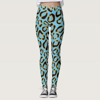Modelo del estampado leopardo del miembro de la leggings