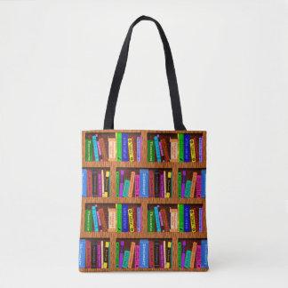 Modelo del estante de la biblioteca de los libros bolso de tela