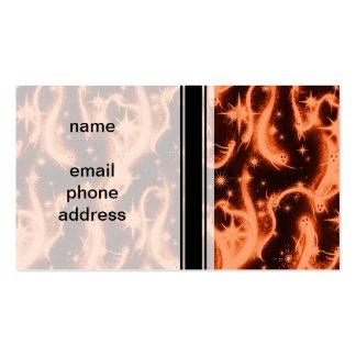 Modelo del fantasma de la chispa del naranja y del tarjetas de visita