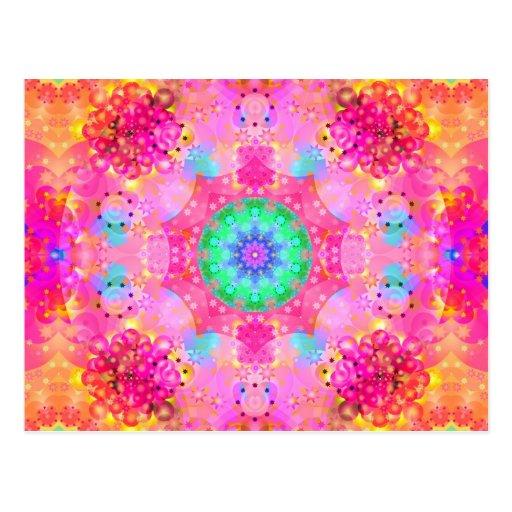 Modelo del fractal de las estrellas y de las burbu tarjetas postales