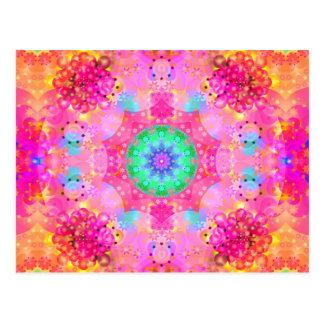 Modelo del fractal de las estrellas y de las postal