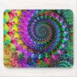 Modelo del fractal del arco iris del hippy alfombrilla de ratón