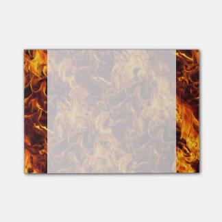Modelo del fuego y de la llama notas post-it®