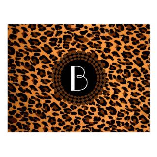 Modelo del leopardo del estampado de animales postal