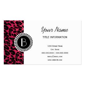 Modelo del leopardo del estampado de animales tarjeta de visita