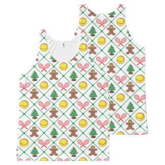 Modelo del navidad del tenis camiseta de tirantes con estampado integral