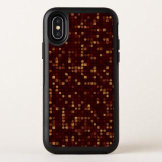 Modelo del oro y de los cuadrados rojos en rojo