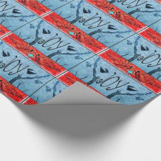 Modelo del pájaro de la alegría del día de fiesta papel de regalo