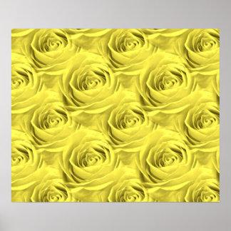 Modelo del papel pintado del rosa amarillo posters
