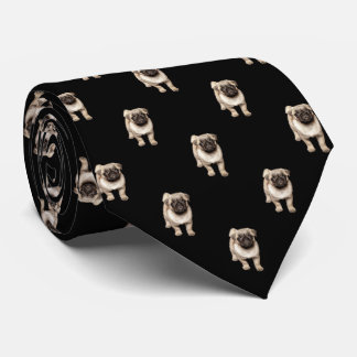 Modelo del perrito del barro amasado en negro corbata