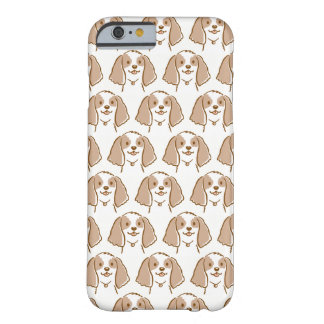 Modelo del perro del dibujo animado de cocker funda barely there iPhone 6