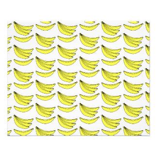 Modelo del plátano folleto 11,4 x 14,2 cm