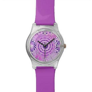 Modelo del remolino del fractal violeta orquídea