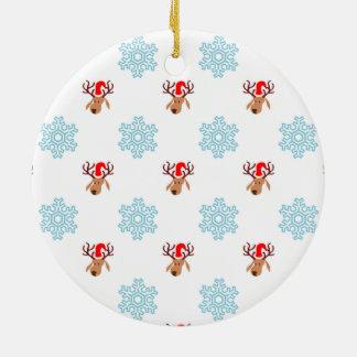 Modelo del reno del navidad adorno de cerámica