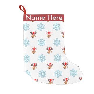 Modelo del reno del navidad calcetín navideño pequeño
