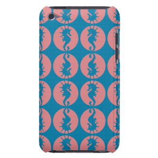 Modelo del Seahorse en melón y trullo oscuro iPod Case-Mate Carcasas
