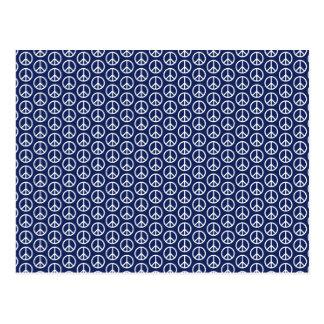 Modelo del signo de la paz en azul de medianoche postal