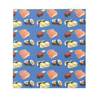 Modelo del sushi bloc de notas