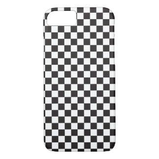 Modelo del tablero de damas blanco y negro funda iPhone 7