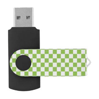 Modelo del tablero de damas del verde amarillo memoria USB