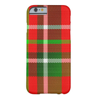 Modelo del tartán del navidad funda para iPhone 6 barely there