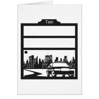 modelo del taxi felicitaciones