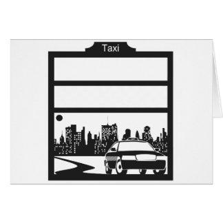 modelo del taxi tarjeta de felicitación