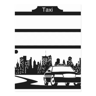 modelo del taxi tarjetas postales