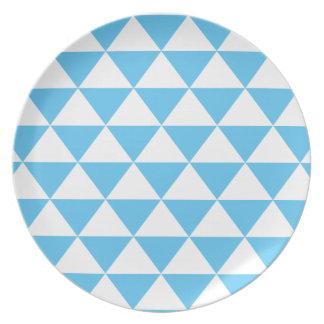 Modelo del triángulo de los azules cielos plato de cena